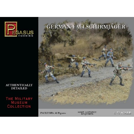 Paracaidista alemán, Fallschirmjäger. Escala 1:72. Marca Pegasus. Ref: PKPG7224.