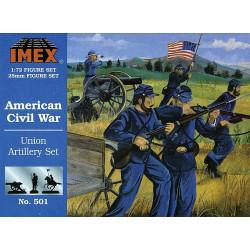 Set Artilleria de la Unión Americana. Escala 1:72. Marca Imex. Ref: IM501.