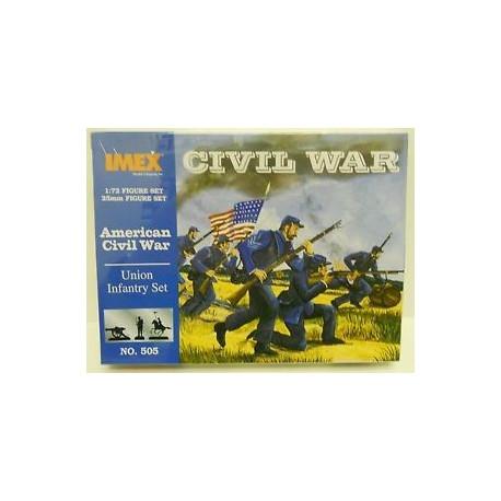 Set Infanteria de la Unión Americana. Escala 1:72. Marca Imex. Ref: IM505.