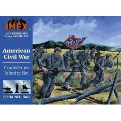 Set Infanteria Confederada Americana. Escala 1:72. Marca Imex. Ref: IM506.