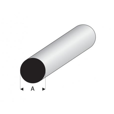 Varilla Maciza Blanca de Estireno, Diametro 2,5 mm, 330 mm. Marca Maquett. Ref: 400-55/3.
