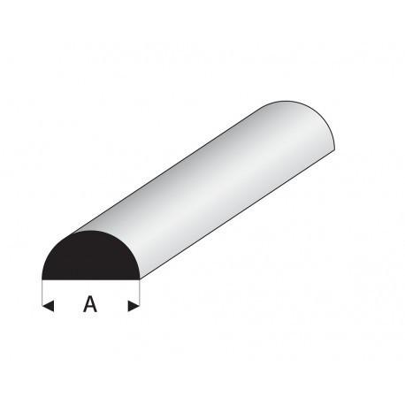 Perfil Media Caña Maciza Blanca de Estireno, Diámetro 2 mm, 330 mm. Marca Maquett. Ref: 401-54/3.