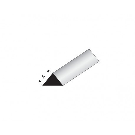 Perfil Triángulo Macizo 90º de Estiren. A: 2 mm, 330 mm. Marca Maquett. Ref: 405-52/3.