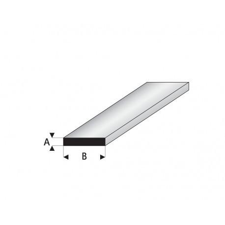 Tira de Perfil Recto de Estireno. A: 1 mm, B: 2 mm. Marca Maquett. Ref: 409-52/3.