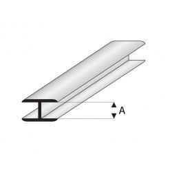 """Perfil Flat Conector, en """" H """"de Estireno. A: 4  mm y L: 330 mm. Marca Maquet. Ref:  450-55/3."""