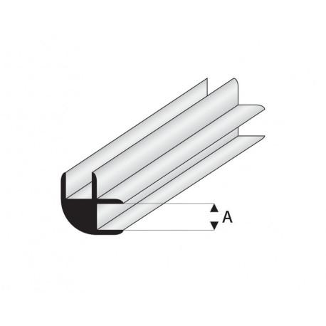 Perfil L-Conector  de Estireno. A: 1  mm y L: 330 mm. Marca Maquet. Ref:  449-51/3.