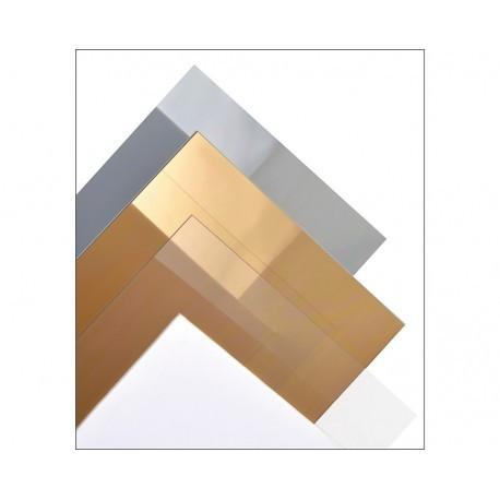 Plancha Lisa Plata Espejo de Estireno. Dimensiones 194 x 320 mm, 1.5 mm . Marca Maquett. Ref: 608-01.