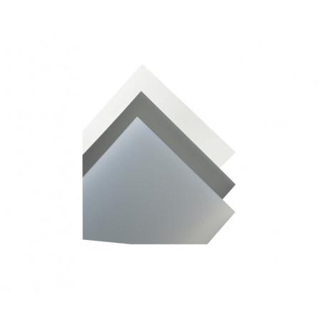 Plancha Evacast Transparente Mate. Dimensiones 194 x 320 mm, 0.28 mm . Marca Maquett. Ref: 609-01.