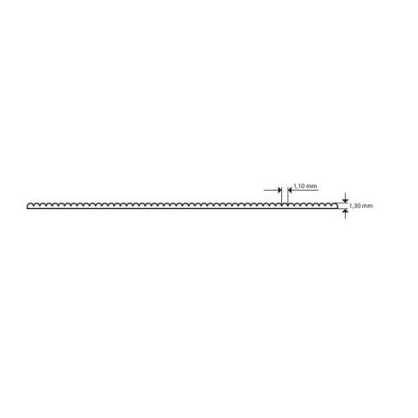 Plancha Evacast  Ondulada Transparente Mate. Dimensiones 194 x 320 mm, 1.30 mm . Marca Maquett. Ref: 610-01.