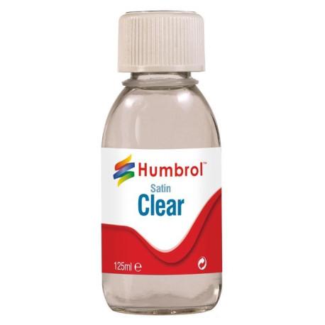 Laca Satinada Clear. Bote 125 ml. Marca Humbrol. Ref: AC7435.
