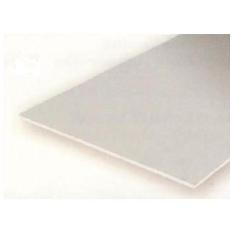 Planchas lisas, 0.25 - 0.5 - 1 mm , 15 x 30 cm. De Estireno. 3 unidades. Marca Evergreen. Ref: 9008.