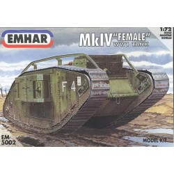 "Tanque heavy battle, Mk IV ""Female"" WWI. Escala 1:72. Marca Emhar. Ref: EM5002."