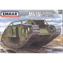 """Tanque heavy battle, Mk IV """"Female"""" WWI. Escala 1:72. Marca Emhar. Ref: EM5002."""