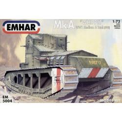 "Tanque Mk A ""WHIPPET"" WWI, medium Tank. Escala 1:72. Marca Emhar. Ref: EM5004."
