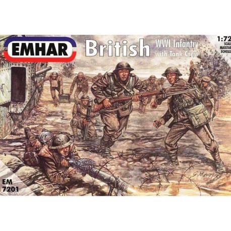 British Infantry y Tank Crew WWI Figuras . Escala 1:72. Marca Emhar. Ref: EM7201.