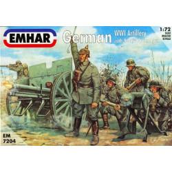 German Artillery WWI Figuras y 77 mm Field Cannon 96n/A . Escala 1:72. Marca Emhar. Ref: EM7204.
