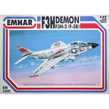 F3H Demon US Navy Jet. Escala 1:72. Marca Emhar. Ref: EM3001.