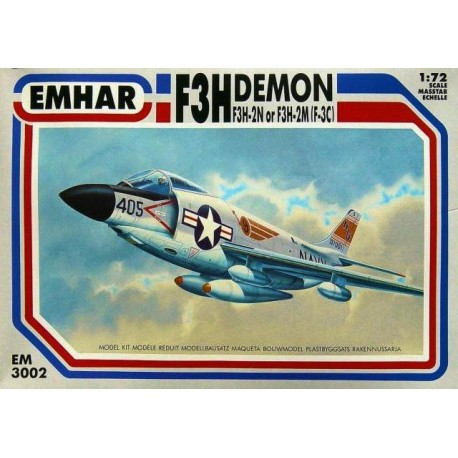 F3H 2M/2N Demon US Navy Jet. Escala 1:72. Marca Emhar. Ref: EM3002.