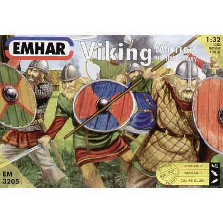 Set Viking Warriors (9 th-10th Century). Escala 1:32. Marca Emhar. Ref: EM3205.