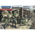 """Figuras de Infanteria Americana WWI """" Doughboys"""". Escala 1:35. Marca Emhar. Ref: EM3509."""