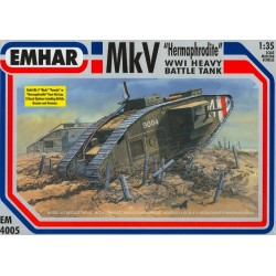 "Tanque heavy battle, Mk IV ""male"" WWI. Escala 1:35. Marca Emhar. Ref: EM4001."