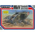 """Tanque heavy battle, Mk IV """"male"""" WWI. Escala 1:35. Marca Emhar. Ref: EM4001."""