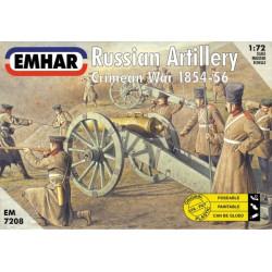 Figuras de Artilleria Rusa, Batalla de Crimea ( 1854 /56 ). Escala 1:72. Marca Emhar. Ref: EM7208.