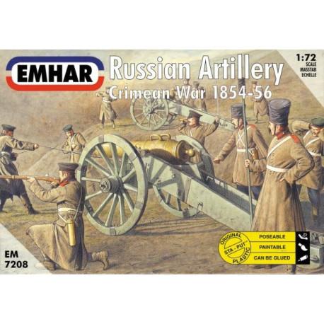Figuras de Artilleria Rusa, Batalla de Crimea ( 1954 / 56 ). Escala 1:72. Marca Emhar. Ref: EM7208.