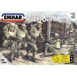 """Figuras de Infanteria Americana WWI """" Doughboys"""". Escala 1:72. Marca Emhar. Ref: EM7209."""