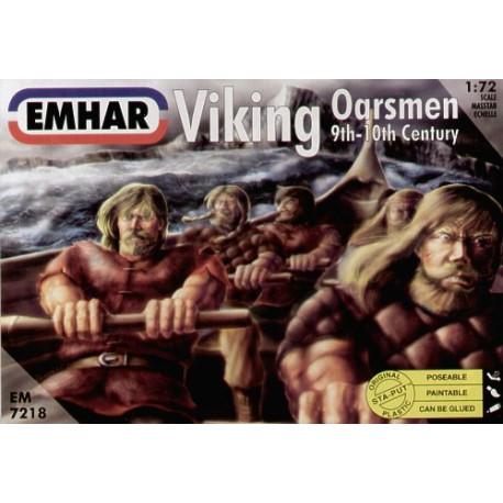 Figuras de Remeros vikingos. Escala 1:72.  Marca Emhar. Ref: EM7218.