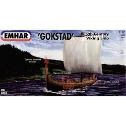 """Barco vikingo """"Gokstad"""". Escala 1:72.  Marca Emhar. Ref: EM9001."""