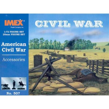 Accesorios de la guerra civil  Americana. Escala 1:72. Marca Imex. Ref: IM507.