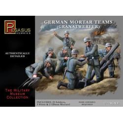 Los equipos de mortero Alemán. Escala 1:72. Marca Pegasus. Ref: PG7204.