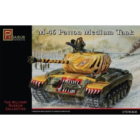 Tanque medio M46 Patton. Escala 1:72. Marca Pegasus. Ref: PG7506.