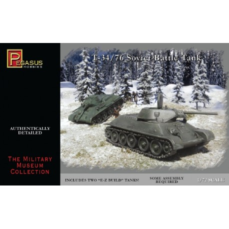 Tanque T-34/76 sovíetico WWII. 2 tanques. Escala 1:72. Marca Pegasus. Ref: PG7661.