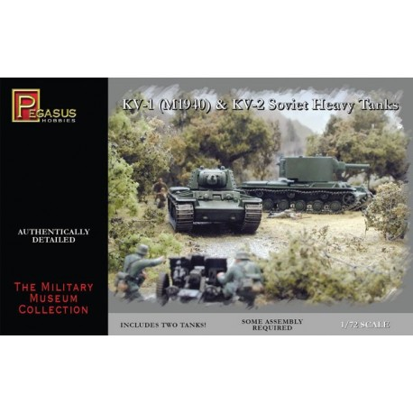 Tanque KV-1 Early & KV-2. Escala 1:72. Marca Pegasus. Ref: PG7665.