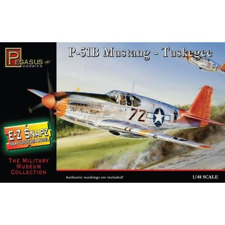 Avión P-51B Mustang Tuskegee Airmen. Escala 1:48. Marca Pegasus. Ref: PG8404.