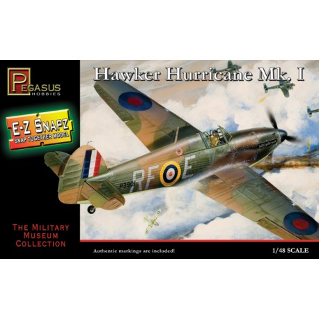 Caza Hawker Hurricane MK I. Escala 1:48. Marca Pegasus. Ref: PG8411.
