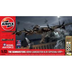 Bombardero Danbusters Avro lancaster BIII (especial), operación regaña. Escala 1:72. Marca Airfix. Ref: A50138.
