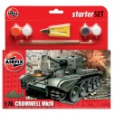 Tanque Cromwell Cruiser, starter size 1. Escala 1:76. Marca Airfix. Ref: A55109.