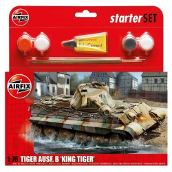 Tanque PZKW VI Ausf.B King Tiger, starter size 3. Escala 1:76. Marca Airfix. Ref: A55303.