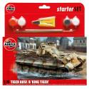 Tanque PZKW VI Ausf.B King Tiger, starter size 3. Escala 1:76. Marca Airfix. Ref: A55303.