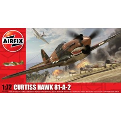Avión Curtis TomaHawk 81-A-2, P40B. Escala 1:72. Marca Airfix. Ref: A01003.