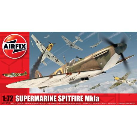 Caza Supermarine Spitfire Mk.Ia. Escala 1:72. Marca Airfix. Ref: A01071B.