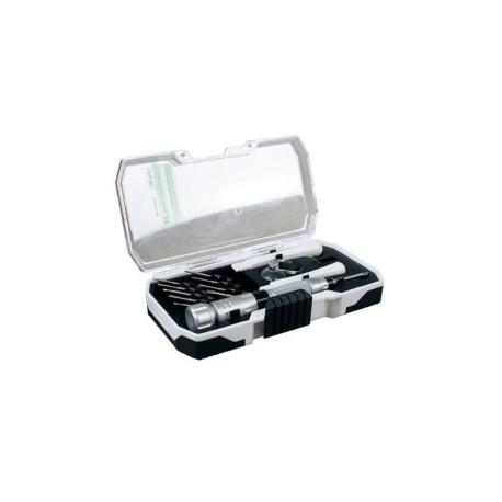Conjunto Destornillador con 10 puntas intercambiables para precisión. Marca Dismoer. Ref: 13352.