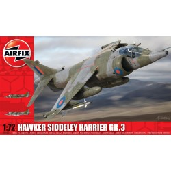 Avión Siddeley Harrier GR3 Hawker. Escala 1:72. Marca Airfix. Ref: 04055.