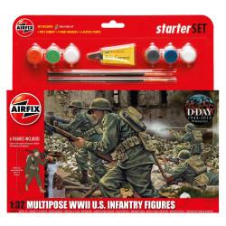 Infanteria Americana WWII, multipose. Escala 1:32. Marca Airfix. Ref: A55212.