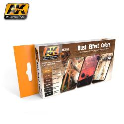 Set de Efecto Rust Colors ( para crear óxido metálico). Marca AK Interactive. Ref: AK551.