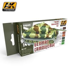 Set de modelismo para Camuflaje Alemán. Marca AK Interactive. Ref: AK167.