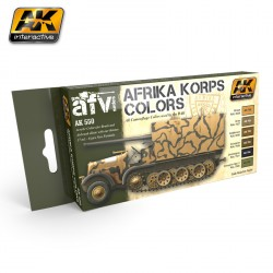 Set de color Africa Korps. Marca AK Interactive. Ref: AK550.